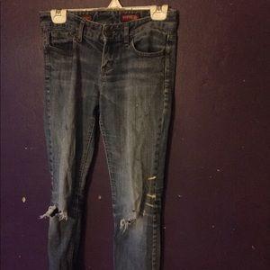 Express Stella Jeans Size 0 Distressed